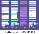 minimal ui kit web ui elements... | Shutterstock .eps vector #445536301