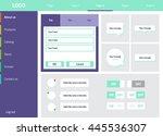 web ui elements mega collection ... | Shutterstock .eps vector #445536307
