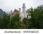 neuschwanstein castle on a... | Shutterstock . vector #445546015
