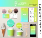 vector ice cream corporate... | Shutterstock .eps vector #445550191
