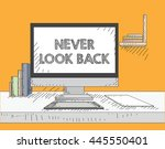 work on the desktop screen | Shutterstock .eps vector #445550401