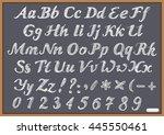 english alphabet letter latin... | Shutterstock .eps vector #445550461