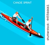 canoe sprint doubles group... | Shutterstock . vector #445566661