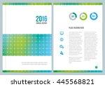 a modern annual report design... | Shutterstock .eps vector #445568821
