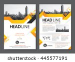brochure template design.... | Shutterstock .eps vector #445577191