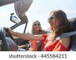 summer holidays  road trip ... | Shutterstock . vector #445584211