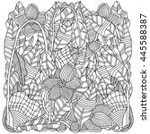 raster copy. coloring book page ...   Shutterstock . vector #445588387