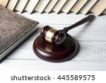 law concept   book with wooden