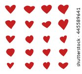 hearts set | Shutterstock .eps vector #445589641