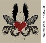 heart with wings | Shutterstock .eps vector #4455988