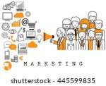 marketing team on white... | Shutterstock .eps vector #445599835