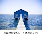Blue House By Perth River