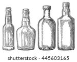 set bottle for beer  rum ... | Shutterstock .eps vector #445603165