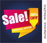 super sale vector banner.... | Shutterstock .eps vector #445612921