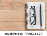 view from above of office... | Shutterstock . vector #445616524