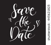 save the date wedding... | Shutterstock .eps vector #445621825