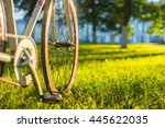 close up photo of front wheel... | Shutterstock . vector #445622035