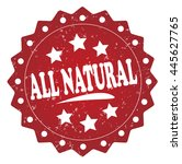 all natural grunge stamp | Shutterstock . vector #445627765