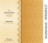 elegant ornament invitation...   Shutterstock .eps vector #445630117