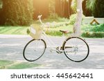 white bicycle  vintage style. | Shutterstock . vector #445642441