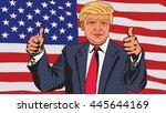 january 18  2016  a vector... | Shutterstock .eps vector #445644169