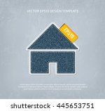vector denim home icon ... | Shutterstock .eps vector #445653751
