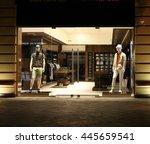 Night Shop Window With Men...