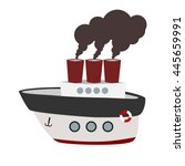 Big Cartoon Steamboat With...
