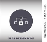 flow chart vector icon