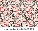 seamless background with hearts. | Shutterstock .eps vector #445672129