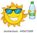 Cute Sun Cartoon Mascot...