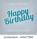 vector applique style... | Shutterstock .eps vector #445677085