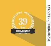 39 years anniversary with low... | Shutterstock .eps vector #445677691