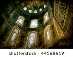 hdr from the interior of the hagia sophia in istanbul - stock photo