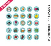 food icons set | Shutterstock .eps vector #445692031