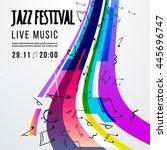 jazz festival poster template.... | Shutterstock .eps vector #445696747
