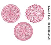 set of cute circle ornament... | Shutterstock . vector #44569996
