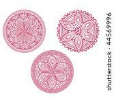 set of cute circle ornament... | Shutterstock . vector #44569996
