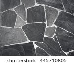 stone wall background with... | Shutterstock . vector #445710805