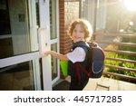 little kinky schoolboy opens a... | Shutterstock . vector #445717285