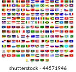 flags of all countries in the... | Shutterstock .eps vector #44571946