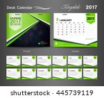 set green desk calendar 2017... | Shutterstock .eps vector #445739119
