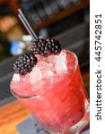 summer berry cocktail with straw | Shutterstock . vector #445742851