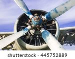 old airplane on the field | Shutterstock . vector #445752889