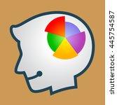 vector stock of human head... | Shutterstock .eps vector #445754587