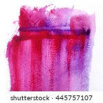 abstract watercolor wash... | Shutterstock . vector #445757107