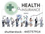 health insurance assurance... | Shutterstock . vector #445757914