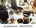 coffee shop cafeteria...   Shutterstock . vector #445767871