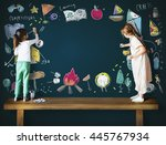 summer camp adventure... | Shutterstock . vector #445767934