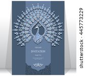 wedding invitation or card with ... | Shutterstock .eps vector #445773229